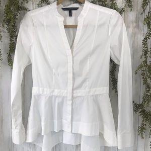 White House Black Market White Blouse. Size 2